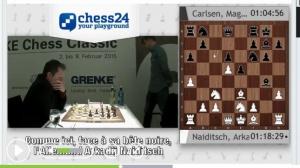 N°5 Victoire de Carlsen à Baden-Baden